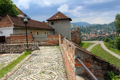 Brasov Citadel, Romania. Brasov fortress, medieval citadel in Romania Stock Image