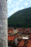Brasov city. View of Brasov city looking over Council or Sfatului Square, Romania Royalty Free Stock Photos