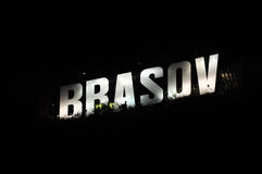 Brasov city name Royalty Free Stock Photos