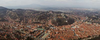 Brasov CITY panorama city Royalty Free Stock Photo