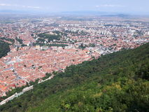 Brasov city. Seen from the mountain Tampa royalty free stock images