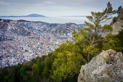 Brasov city from Tampa mountain, Romania Royalty Free Stock Photo