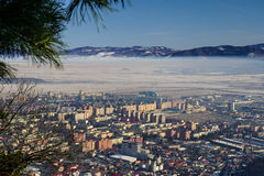 Brasov city from Tampa mountain, Romania Royalty Free Stock Photography