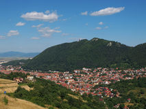 Brasov city and Tampa Mountain, Romania Stock Photography