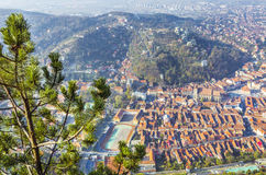 Brasov city view stock photography