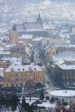Brasov city in winter Royalty Free Stock Image
