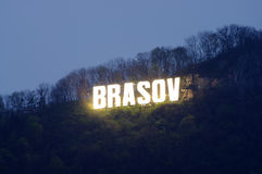 Brasov city word Stock Images