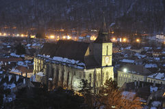 Brasov cityscape with the Black church Stock Image