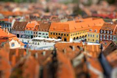 Brasov cityscape in Romania Royalty Free Stock Photography