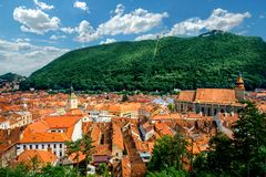 Brasov cityscape in Romania Royalty Free Stock Photo