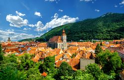 Brasov cityscape in Romania Royalty Free Stock Photos