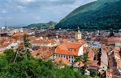 Brasov cityscape in Romania . Royalty Free Stock Photography