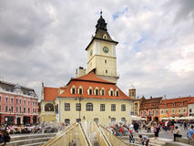 Brasov Council Building on Piata Sfatului. Romania Royalty Free Stock Photography
