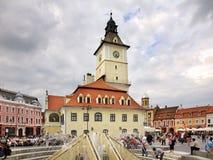 Brasov Council Building on Piata Sfatului. Romania Royalty Free Stock Photography