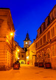 Brasov council house twilight view Stock Photo
