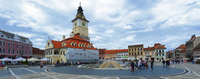 Brasov Council Square is historical center of city Royalty Free Stock Images