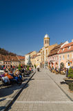 Brasov Council Square Historical Center Royalty Free Stock Photography