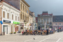 Brasov Council Square Historical Center stock photos