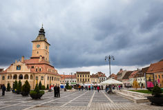 Brasov Council Square. Historical place of square at Brasov stock photos