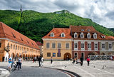 Brasov Council Square (Piata Sfatului)   the main square of Brasov Royalty Free Stock Photo