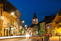 Brasov Council Square at twilight Royalty Free Stock Image