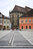 Through Brasov council square Royalty Free Stock Images