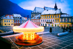 Brasov, Crhstimas market in main square in Transylvania Royalty Free Stock Photography