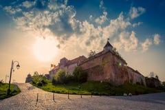 Brasov cytadela od starego miasteczka blisko Dracula ` s kasztelu, Zdjęcie Royalty Free