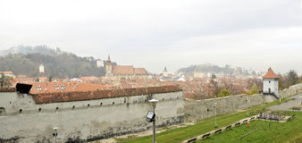 Brasov defence towers Royalty Free Stock Images