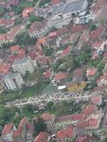 Brasov, district Transylvania, Romania, Europe. Aerial view of the city royalty free stock photography