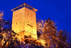 Brasov fortress, Black Tower (Romania landmark). Black Tower in Brasov, Transylvania county in Romania. The tower was built in 1494 on a rock on Straja Hill Royalty Free Stock Photos