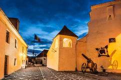 Brasov Fortress courtyard, Transylvania Stock Photos