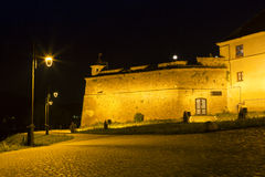 Brasov Fortress at night. The citadel was one of the strongest defensive citadels in Transylvania, Romania Royalty Free Stock Photography