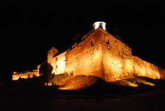 Brasov Fortress. At night, Romania. The Citadel is part of Brasov's outer fortification system (Transylvania, Romania Stock Photos