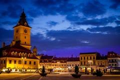 Brasov gammal stad, med medeltida arkitektur i Transylvania, Rumänien Royaltyfria Foton
