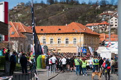 Brasov half marathon Stock Images