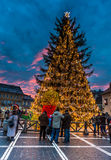 Brasov historical center in Christmas days, Romani Royalty Free Stock Photography