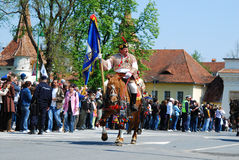 brasov juni游行罗马尼亚 免版税库存照片