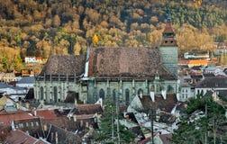 Brasov, la Transilvania, Romania - Novemrer 19, 2016: il quadrato centrale di vecchia città Brasov transylvania Vista da Immagine Stock