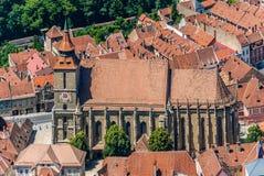 Brasov landmark - Black church stock photos