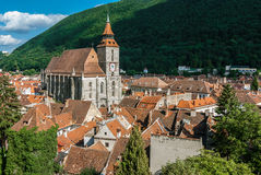 Brasov landmark - Black church royalty free stock photos