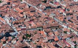 Brasov landmark - old city overview stock photography