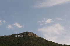 Brasov logo. On Tampa mountain, Transylvania, Romania stock photography
