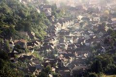 Brasov médiéval pendant l'automne Vieille partie de ville Image stock
