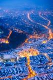 brasov κεντρική πόλη παλαιά Ρου&m Στοκ Εικόνες