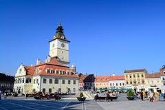 Brasov Main Square. Council square is the main square in Brasov, Transylvania, Romania Royalty Free Stock Image