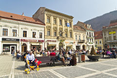 Brasov Main Square Royalty Free Stock Photography