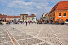 Brasov Main Square Royalty Free Stock Photo