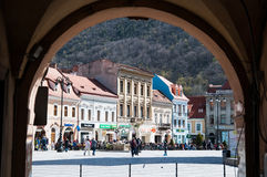 Brasov main square Stock Photos