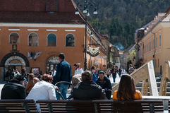 Brasov main squareview Stock Photography